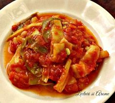 mancare de fasole Ratatouille, Thai Red Curry, Shrimp, Beans, Food And Drink, Chicken, Ethnic Recipes, Food Ideas, Green