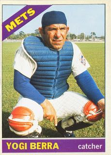 "Cards That Never Were: 30 Tribute Card Project – 1966 Topps Yogi Berra by ""Uncle… – Sports Car New York Mets Baseball, Baseball Star, Ny Mets, Baseball Wall, Dodgers Baseball, Famous Baseball Players, Mlb Players, Old Baseball Cards, Lets Go Mets"