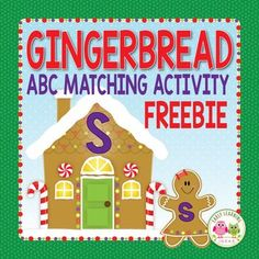 Free Gingerbread alphabet activity!!! A great alphabet literacy activity for your gingerbread or Christmas theme preschool, pre-k, kindergarten, RTI, or SPED classroom. Perfect for your literacy center, literacy work station, or literacy tubs. ****Want to upgrade this resource to include beginning sound activities? ****