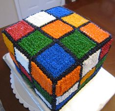 how to make a rubik's cube cake - Google Search