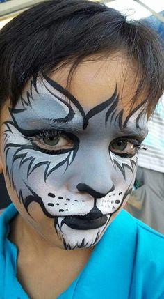 Mark Reid Wolf Face Painting Design