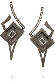 KilianLights & Reflections rhodium-plated Swarovski crystal earrings