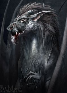 The bat lord by Whiluna lion hybrid demon monster beast creature animal | Create your own roleplaying game material w/ RPG Bard: www.rpgbard.com | Writing inspiration for Dungeons and Dragons DND D&D Pathfinder PFRPG Warhammer 40k Star Wars Shadowrun Call of Cthulhu Lord of the Rings LoTR + d20 fantasy science fiction scifi horror design | Not Trusty Sword art: click artwork for source