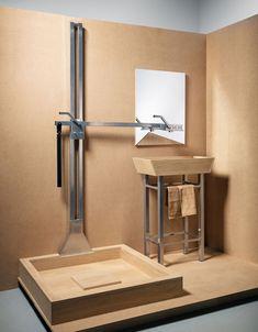 two in one by julia kononenko combines shower   sink together