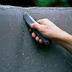 Step Cut the cement board - How to Make Concrete Countertops - Sunset Cement Crafts, Concrete Projects, Concrete Design, Art Projects, Making Concrete Countertops, Quartz Countertops, Epoxy Countertop, Concrete Kitchen, Concrete Board