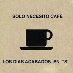 """Sólo necesito café los días con """"S"""". ¿Y tú? #ProyectoPlato #KeepCup #SinDesechables"""