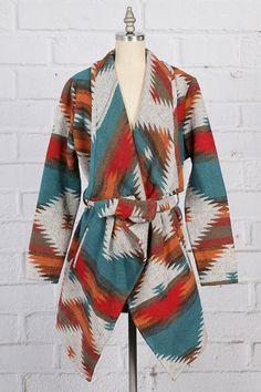 Longhorn Fashions - Aztec Print Coat, $58.00 (http://www.longhornfashions.com/aztec-print-coat/)