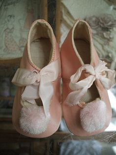 Vintage baby girl shoes.