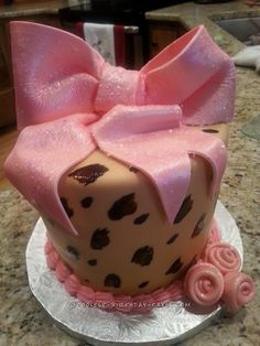 Pink and Brown Leopard Print Cake... Coolest Birthday Cake Ideas