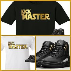 EXCLUSIVE TEE SHIRT to match the NIKE AIR JORDAN 12 XII MASTERS!-KICKSMASTER   COPEMCUSTOMS  GraphicTee 946e28cea1