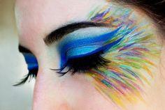 Check out the gorgeous make-up works of Beutylish Editor Victor . - Make-up - Makeup Peacock Eye Makeup, Bird Makeup, Butterfly Makeup, Makeup Art, Beauty Makeup, Exotic Makeup, Owl Makeup, Mermaid Makeup, Eyeshadow Makeup