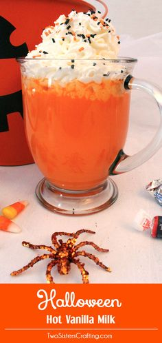 This year when the kids get home from trick or treating - cold, tired and full of chocolate - make them a big glass of our Halloween Hot Vanilla Milk instead of Hot Chocolate. Easy to make and so very delicious it is a fun Halloween treat. Follow us for more fun Halloween Food Ideas.
