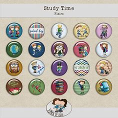 SoMa Design: Study Time - Flairs Digital Scrapbooking, Decorative Plates, Study, Kit, Design, Studio, Studying, Design Comics