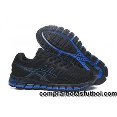 Zapatillas Running Asics Gel Quantum 360 2 Hombre Negro Azul Outlet 6017c66604940