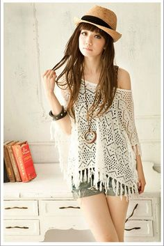 Women's Cotton Thread Charming Cardigan With Openwork Large Boat Neck Fringe DesignSweaters & Cardigans | RoseGal.com