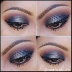 I used my Anastasia Beverly Hills artist palette. Makeup Geek, Makeup Inspo, Makeup Ideas, Makeup Tips, Eye Makeup, Hair Makeup, Smokey Eyeshadow, Eyeshadow Looks, My Beauty