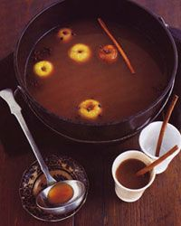 saw this on Four Weddings - everyone loved it  Hot Caramel Apple Cider  8 oz apple cider 2 oz butterscotch schnapps  Pour cider into a microwave safe mug. Heat on high for 2 minutes, stirring after one minute. Add Butterscotch Schnapps and stir. This could be made in large batch and be a Signature Drink