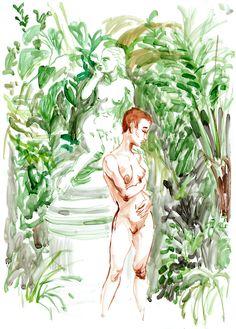 Adam Murphy - Life Drawing at the Botanics, Glasgow Life Drawing, Sketchbooks, Glasgow, My Drawings, Comics, Artist, Painting, Sketch Books, Artists