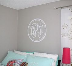 Monogram on the wall