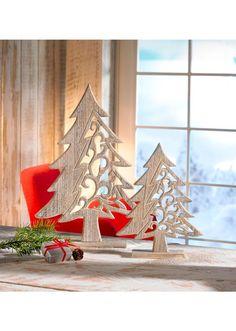 """Bild 3 von Weihnachtsdeko """"Tannenbaum"""" aus Holz, 2-tlg. Set"""