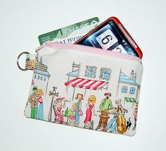 PARISVILLE - Small Zipper Pouch / Cell Phone Gadget Holder