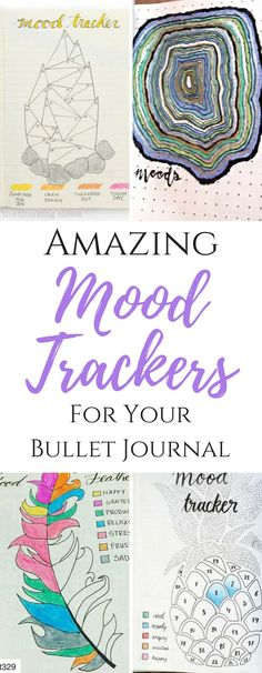 bullet journal mood trackers, bullet journal layouts, bullet journal trackers