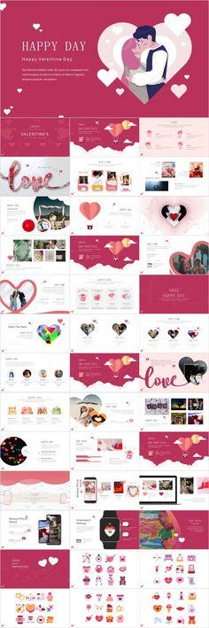 Happy Love design PowerPoint – The highest quality PowerPoint Templates and Keynote Templates download Jeopardy Powerpoint Template, Simple Powerpoint Templates, Professional Powerpoint Templates, Keynote Template, Love Design, Ppt Design, Design Art, Valentine's Day Poster, Happy Love