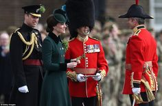 Earlier today, the Duke and Duchess of Cambridge attended the annual Irish Guards' St Patrick's Day Parade in West London