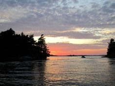 The beautiful St. Lawrence River at sunset