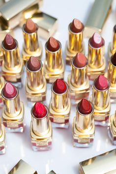 lipsticks lipsticks everywhere Estee Lauder Brands, Estee Lauder Makeup, Lipstick Shades, Red Lipsticks, Makeup Lipstick, Beauty Makeup, Hair Beauty, Beauty Bar, Batons Matte