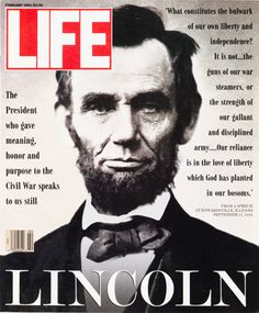 Friday, February 12, 2016 ~ Happy 207th birthday, Mr. Lincoln!  Life Magazine....I have had this magazine cover framed and hanging in my home office since it came out in 1990. He's one of my personal heroes ~slj~      (Day spent sorting my closets and discarding clothes).