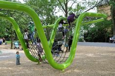 Sculptural playground by Annabau in Wiesbaden, Germany. Click for source and visit the slowottawa.ca boards >> http://www.pinterest.com/slowottawa/