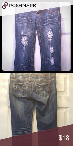 Almost Famous jeans Distressed jeans comfy fit in great condition. Feel free to ask questions Almost Famous Jeans Boot Cut