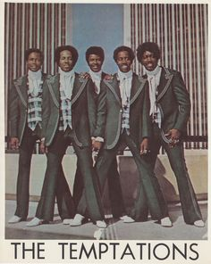 The Temptations, my all time favorite Motown group. Music Icon, Soul Music, My Music, Psychedelic Rock, Indie, Tamla Motown, Grunge, Hip Hop, Soul Funk