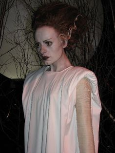 Mike Hill's life size rendition of Elsa Lanchester from The Bride of Frankenstein