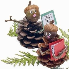 Super winter nature crafts for kids christmas decorations ideas Kids Crafts, Christmas Crafts For Kids, Christmas Projects, Fall Crafts, Holiday Crafts, Funny Christmas, Harvest Crafts, Acorn Crafts, Pine Cone Crafts