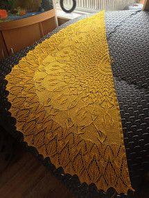 Mayan Garden knitted shawl pattern by Kitman Figueroa