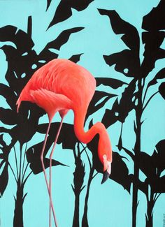 Flamingo acrylic on canvas