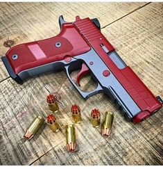 """therevenantrising: """"schweizerqualitaet: """"Sig Sauer P229 Elite """" I really wish that gimmicky ass RIP ammo would go away already. """" @schweizerqualitaet you sure that isn't a p220? Looks like a single stack."""
