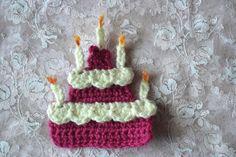 Free crochet pattern: birthdaycake! Gratis haakpatroon: de Kaart-Taart!