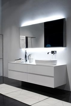:: BATHROOMS :: lovely vanity detail, Panta Rei Collection | antoniolupi | #bathrooms
