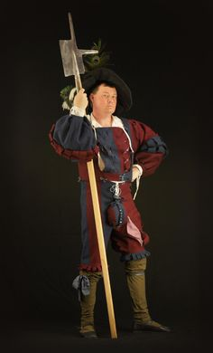 Landsknecht with halberd
