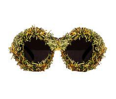 Shredded Money & Gold Sunglasses  Centum by MATERIALMEMORIE, $75.00