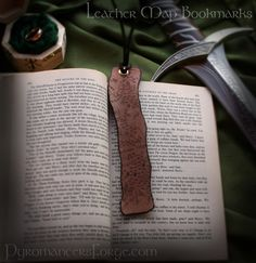 Lord of the Rings Middle Earth Map Leather Bookmark from Pyromancer's Forge $10.00
