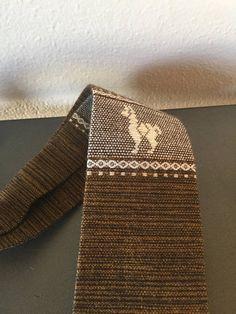Vintage Mens Wool Ties 1960s Guatemalan Necktie Mens Boho