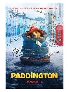 Score a piece of Paddington's new big-screen adventure with exclusive props, classic toys, and more from @gilt. You can own a Paddington movie poster signed by members of the cast!