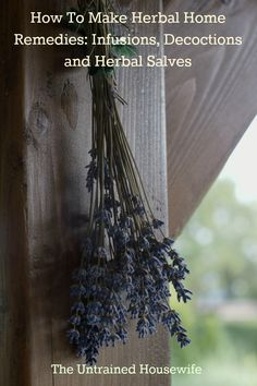 How to Use Medicinal Herbs at Home: Making Herbal Infusions, Decoctions and Salves | herbology, herbalism, healing plants, herbal medicine