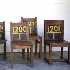 Numbered Child's Chair | JuxtaPosition
