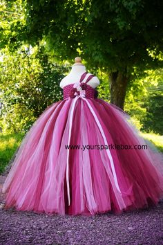 tutu dresses | Stunning dress in Wine, Berry and Pink! This dress features a wine ...