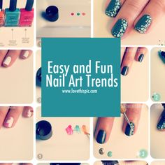 Easy and Fun Nail Art Trends nails nail pretty nails nail art nail ideas nail designs